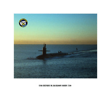 USS Henry M Jackson SSBN 730 Boomer Trident Submarine Decal Sticker Command Seal
