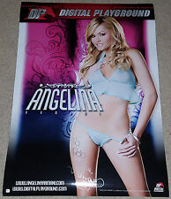 Porn Star ANGELINA ARMANI Signed Rare Sexy Digital Playground 28x40 Photo Poster