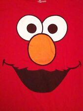 Sesame Street Elmo Face Print Puppet Red Kids TV Show T Shirt XL