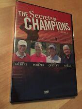 THE SECRET OF CHAMPIONS Vol. 1 Golf DVD Gibby Gilbert JC Snead BRAND NEW SEALED