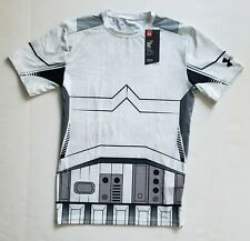 New Under Armour Star Wars Compression Storm Trooper Shirt 1273450-100 Size