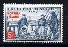 NORFOLK ISLAND 1959 ANNIVERSARY OF AUSTRALIAN POST OFFICE SG23 BLOCK OF 4 MNH
