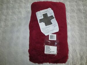 NEW Deep Red RECLINER CHAIR Polyester COVER w/Top Elastic Bands