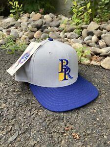 1990's NEW ERA WILMINGTON BLUE ROCKS Snapback Hat Gray Made In USA Royals