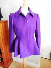 TED Baker-Donna sollel-Cappotto Con Baschina Viola-SZ 3/UK 12-RRP £ 219