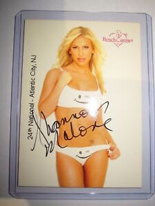 BENCHWARMER SERIE 1 2002 SHANNON MALONE AUTHENTIC AUTOGRAPH 14/20 VR CARD MINT