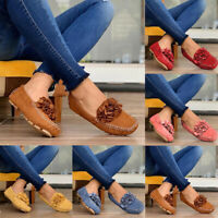 Women Slip On Flat Loafers Ladies Casual Flower Pumps Moccasins Comfy Shoes Size