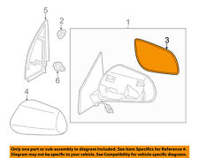 NISSAN OEM 09-14 Cube Door Rear Side View-Mirror Glass Left 963661FC0A