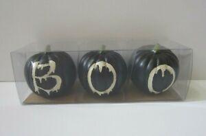 "Pier 1 Black  ""BOO"" Pumpkins"