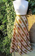 Vintage 1970's Ladies Multi-Coloured Long Skirt Size 14