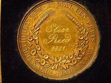 1851 KARLSRUHE GERMANY MEDAL BADEN BEE - Original Case - Silver over Brass?