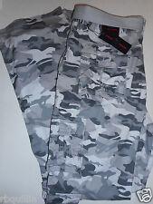 NWT PHAT FARM 34 x 32 Relaxed Straight UTILITY CARGO 10 Pocket Gray Camo Pants