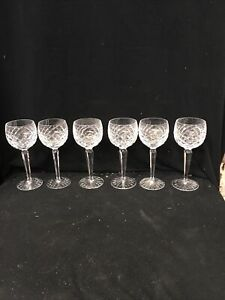 Waterford Crystal Tyront? Hock Wine Glasses Set Of Six