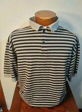 Callaway Golf Men's Grey and Black stripe Short Sleeve XL 100% Cotton