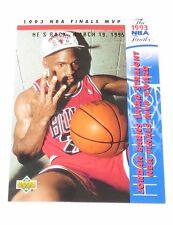 1995 Michael Jordan NBA Upper Deck 'He's Back March 19, 1995' Reprint Card #204