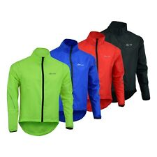 Mens Cycling Waterproof Jacket High Visibility Running Top Rain Coat S to 2XL