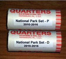 2010-2016 ATB National Park  2-35 coin quarter sets- P & D mint rolls