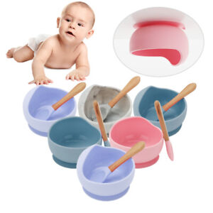 Baby Silicone Suction Bowl With Spoon Feeding Dinner Set for Baby and Toddler