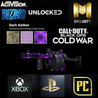 CALL OF DUTY COLD WAR!PRE LOADED!DARK AETHER/MAX WEAPONS/MAX CAMOS/BOOST LEVELS