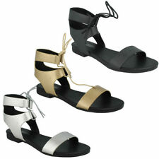 Gladiators Lace Up Casual Sandals & Flip Flops for Women