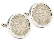 1954 Sixpence in Silver Plate Mens 64 64th Years Birthday Gift CUFFLINKS DIRECT