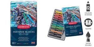 Derwent Inktense Ink Blocks, 12 Count (2300442) 12 Count, Assorted