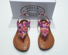 NEW with box STEVE MADDEN GIRL'S KIDS SHOES SANDALS MULTI COLOR SIZE US 2 EU 33