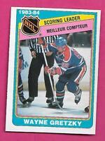 1984-85 OPC # 380 OILERS WAYNE GRETZKY SCORING LEADER NRMT  CARD (INV# D1818)