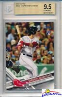 2017 Topps # 283 Andrew Benintendi ROOKIE BGS 9.5 GEM MINT Boston Red Sox