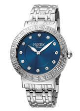 Ferre Milano Women's FM1L041M0171 Blue Dial Stainless Steel Wristwatch