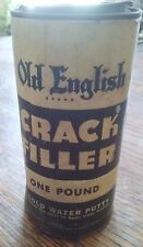 Boyle Midway Inc CRACK FILLER Putty 1 Pound Tin Can Vintage Advertising
