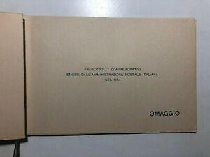 1954 Libro Libretto Folder Omaggio Francobolli Celebrativi Commemorativi Italy
