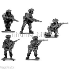 BLI06 RIFLE TEAM + BASE M BRITISH LATE INFANTRY FLAMES OF WAR WW2 BITZ PSC 15mm
