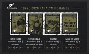 NEW ZEALAND 2021 TOKYO PARALYMPICS MINIATURE SHEET FINE USED