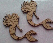 4x MDF Mermaid  Laser Cut 75mm size  Craft Blanks/ Shapes  Embellishmets