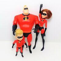 Disney Pixar's The Incredibles Dolls Action Figures Lot of 3 Jakks