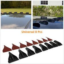 Universal 8 Pcs Black ABS Vortex Generator Shark Fin Spoiler Wing Roof Trunk