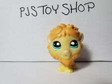 Littlest Pet Shop LPS orange yellow lion #1004 Authentic w/ Free Gift
