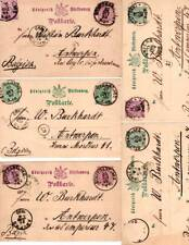 10 Used Wurttemberg Postal Cards 1889 - 1991