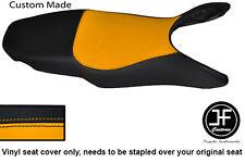 BLACK & YELLOW AUTOMOTIVE VINYL CUSTOM FITS HONDA VFR 800 98-01 SEAT COVER ONLY