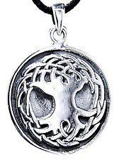 No. 82: Life Tree Yggdrasil World-Ash Solid 925 Silver Pendant Tree with Rope