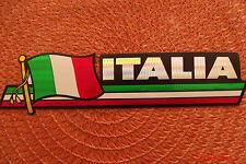 Italia Italy Flag Reflective Sticker, Coated Finish, Side-Kick Decal 12x2/12