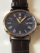 Steinhausen Men's  MW-493RGU Dunn Luxe Analog Display Swiss Quartz Brown Watch