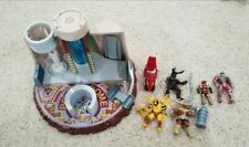 Vintage Mighty Morphin Power Rangers Lot Power Dome Playset Alpha 5 Figures