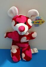 """New listing Beanpals Kellytoy Heart Mouse 10"""" Pink&Red Plush Stuffed Animal w/Tag"""