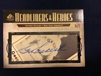 "2008 UD Legendary Cuts George Selkirk SSP On Card ""Cut"" Auto #6/9 Yankees.!!"