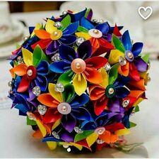 Papel Origami Boda Ramo De Flores Origami Flores Orgullo Arco Iris alternativa