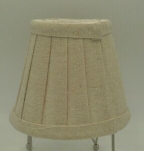 "Chandelier Shade, Clip-On, 5"", Pleated Shade, Beige"