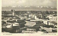 MARRAKECH panorama sur l'atlas