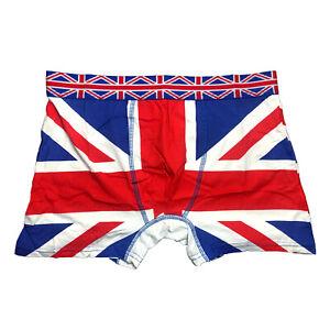 Men's boxer shorts UK British flag Union Jack England trunk underwear UJ cotton